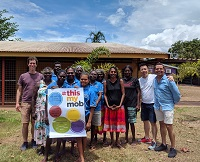 Chris, Tuck and Greg with participants at Wurrumiyanga